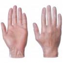 Gloves Vinyl Large Pack 100 Clear Powder Free