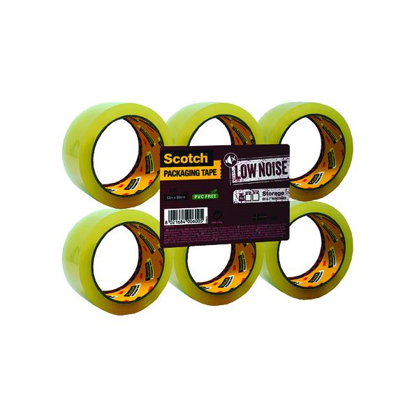 Scotch Low Noise Tape 48mmx66m Clr Pk6