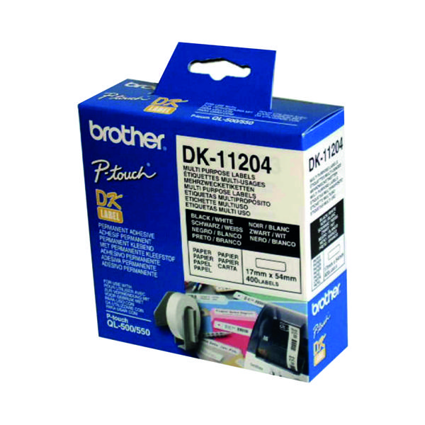 Brother Black/White Multi Labels Pk400