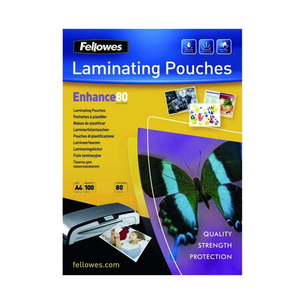 Fellowes A4 Matt Laminating Pouch Pk100
