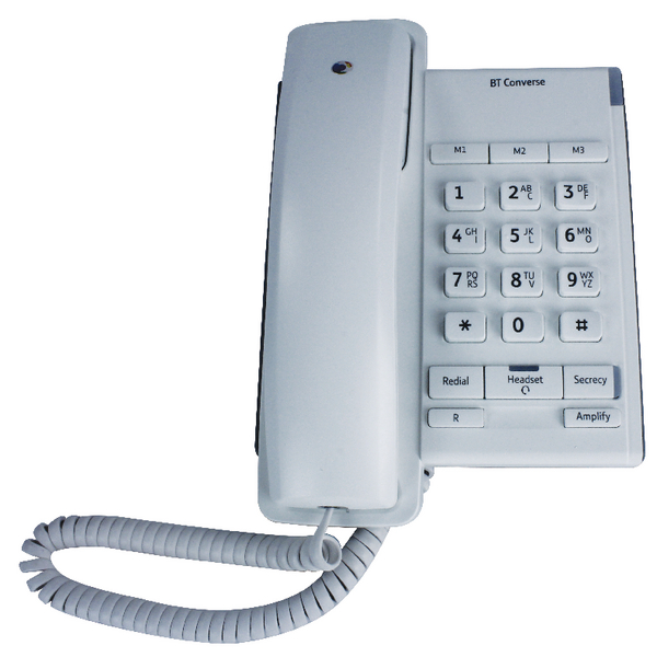 BT Wht Converse 2100 Corded Phone 040205