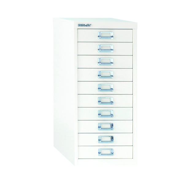 FF Bisley 10Drw A4 Multi Drawer White