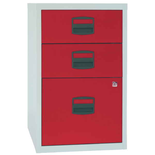 FF Bisley 3 Drw A4 Filer Gry Red