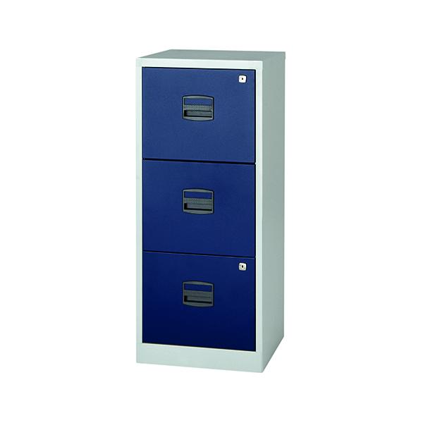 FF Bisley 3 Drw A4 Filer Grey Blue