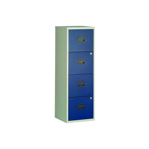 FF Bisley 4Drw A4 Filer Grey Blue