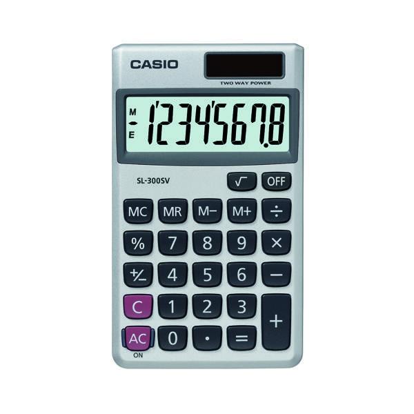 Casio 8-digit Pocket Calc SL-300SV
