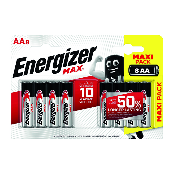 Energizer MAX E91 AA Batteries Pk8