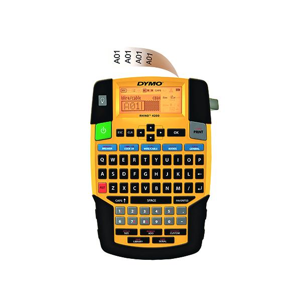 Dymo Rhino 4200 QWERTY 19mm Yellow