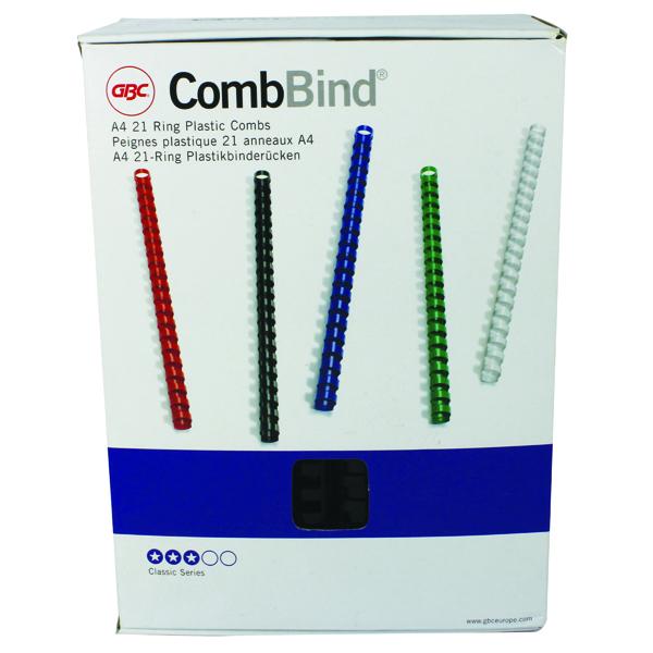 GBC Black 22mm Bind Combs 4028602U Pk100
