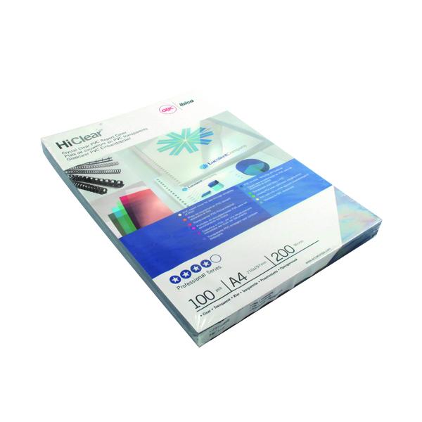 GBC HiClear PVC A4 Binding Covers Pk100