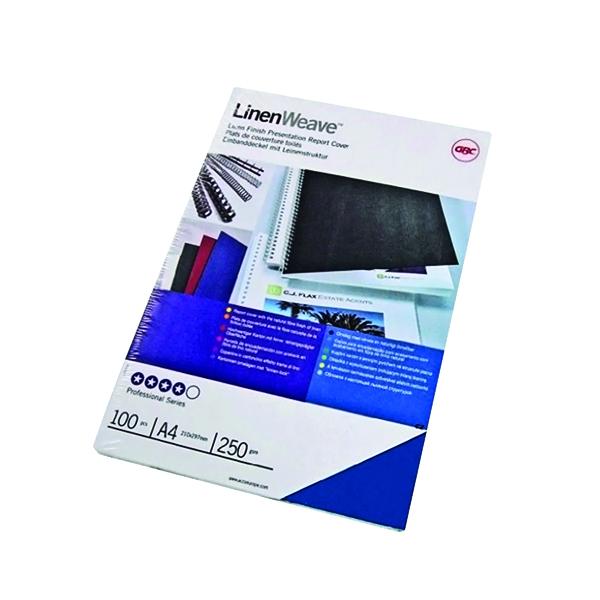 GBC A4 Ry/Blue Binding Covers 250gm P100