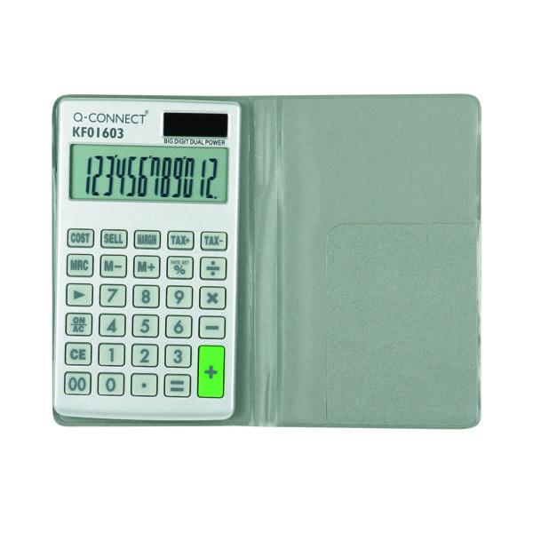 Q-Connect Lge Pocket Calculator 12-digit