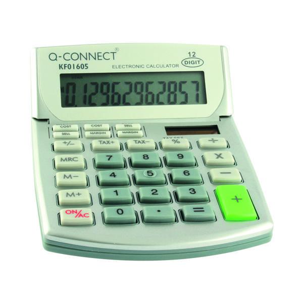 Q-Connect Semi-Desktop Calc 12-digit