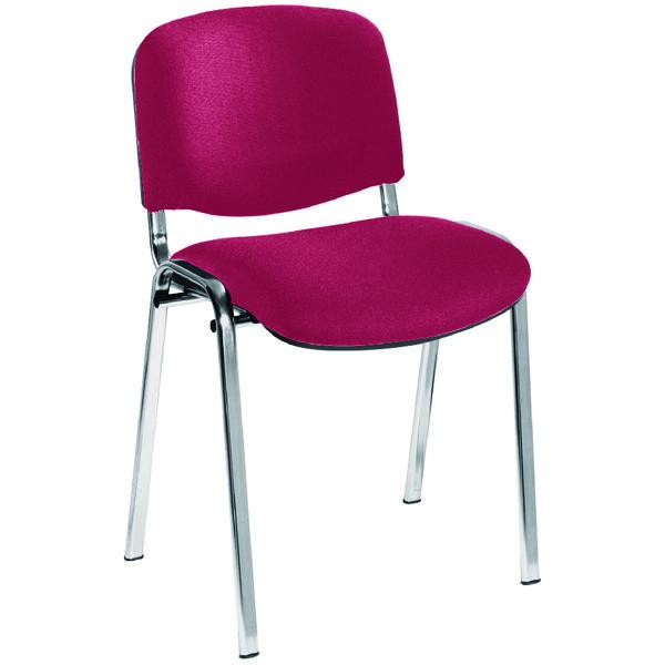 Jemini Multi Stacker Chair Claret Chrome