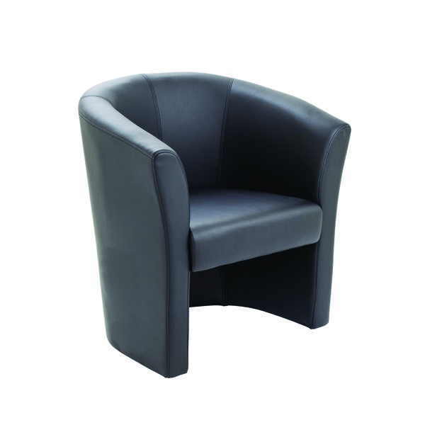 FF Arista Black Tub Chair Vinyl KF03527