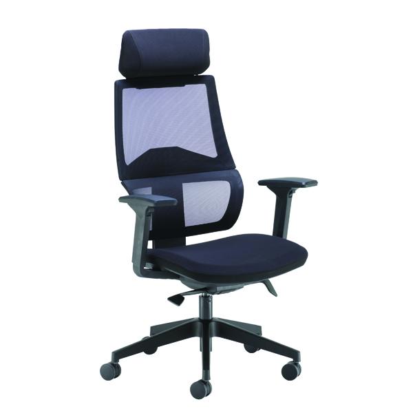 FF Arista Cadence H/Bck Chair Blk
