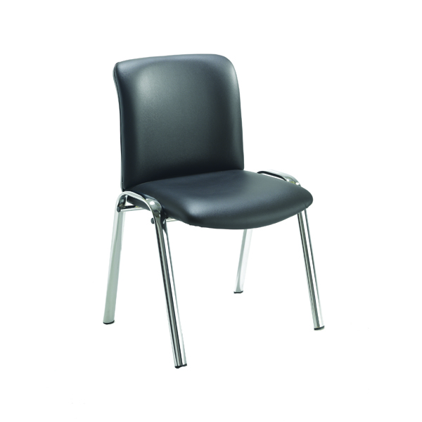 FF Avior Conf Hb Chrome Chair Blk Pu