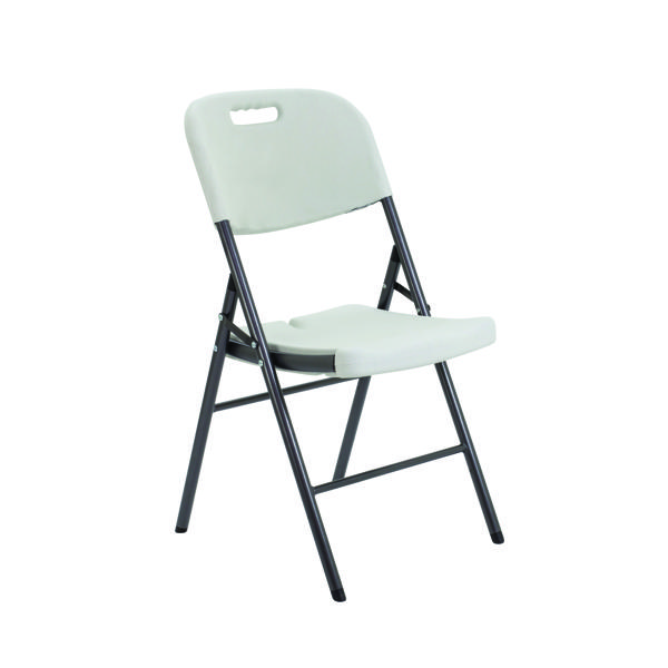 FF Jemini Folding Chair White