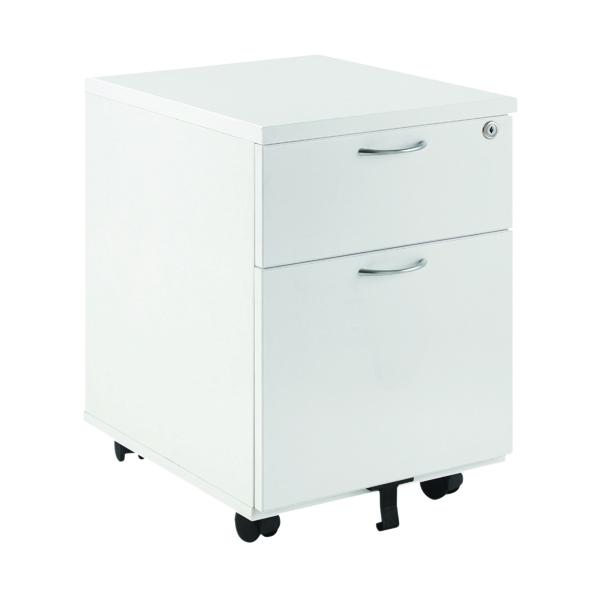 FR First Bund Mobile Un Desk 2Dr White