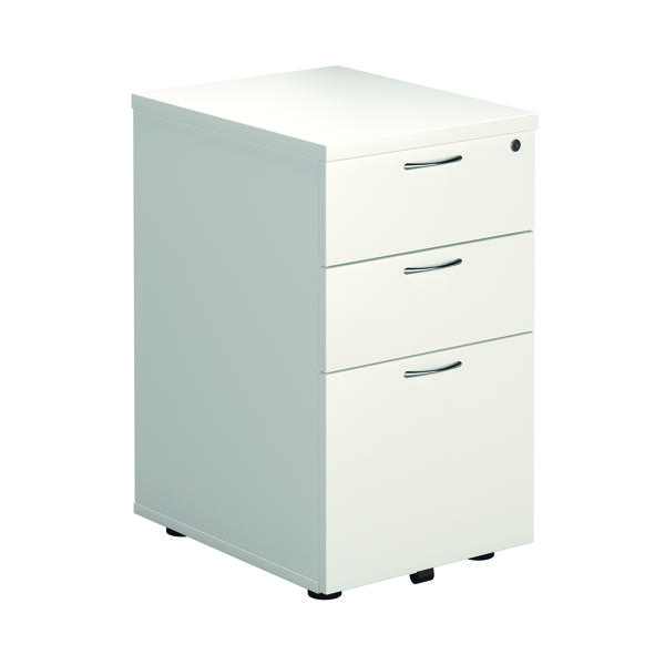 FR First Tall Under Desk Ped 3Dr White