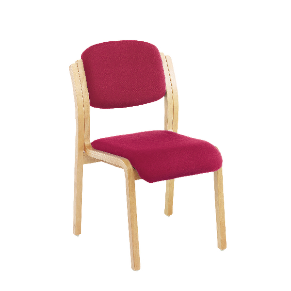 FR First Wood Side Chair No Arms Claret