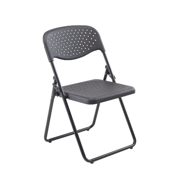 FF Jemini Folding Chair Black Pack 4