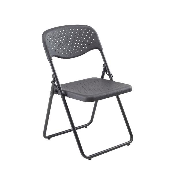 FF Jemini Folding Chair Black Pack 4
