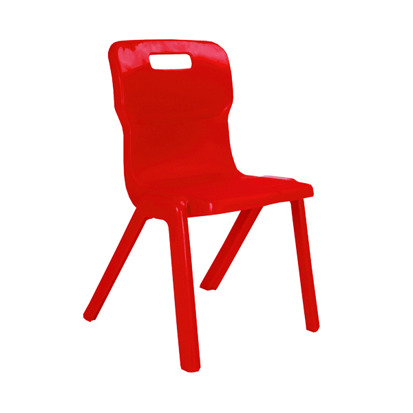FF Titan 1 Pce Size 1 Red School Chair