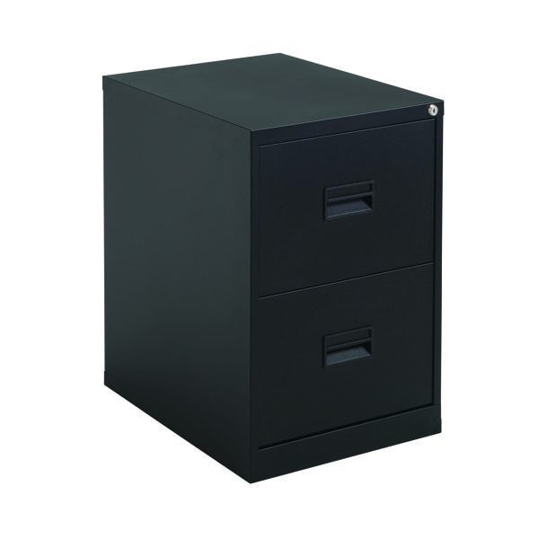 FR Talos 2 Drawer Filing Cabinet Black