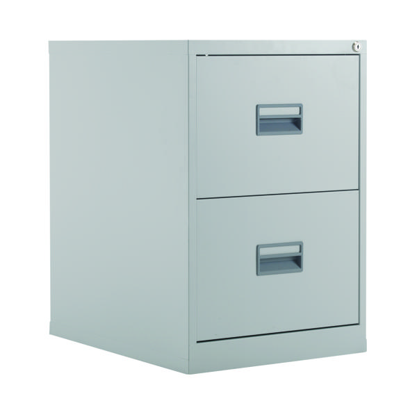 FR Talos 2 Drawer Filing Cabinet Grey
