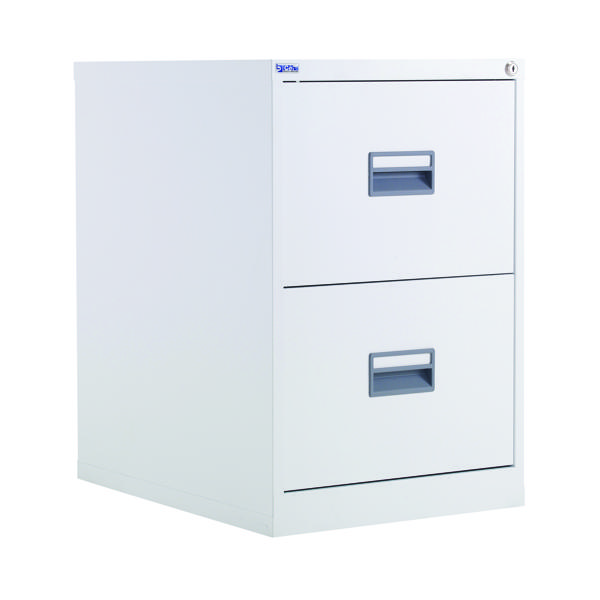 FR Talos 2 Drawer Filing Cabinet White