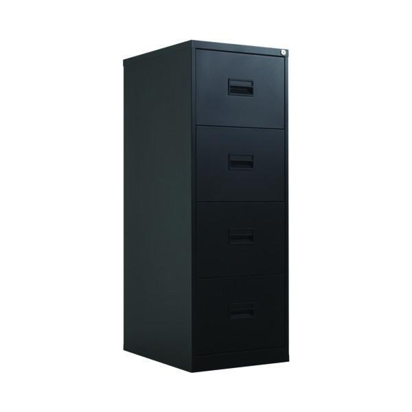 FR Talos 4 Drawer Filing Cabinet Black