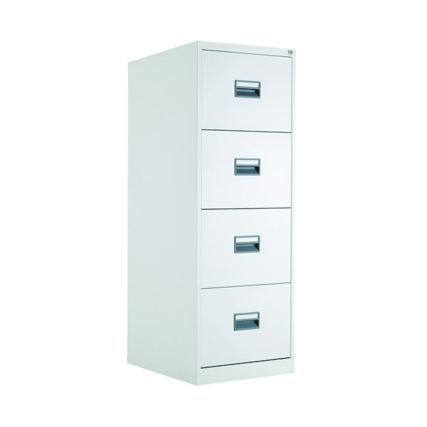 FR Talos 4 Drawer Filing Cabinet White