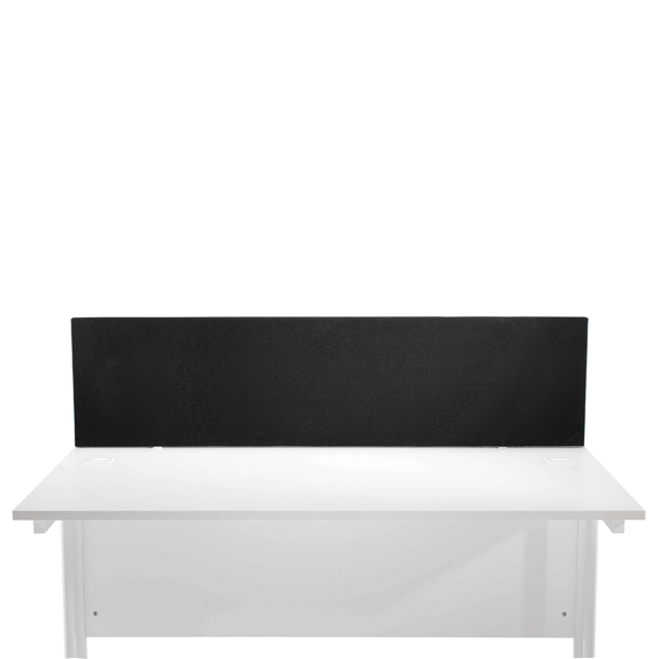 FF Jemini Black 800mm Strght Desk Screen
