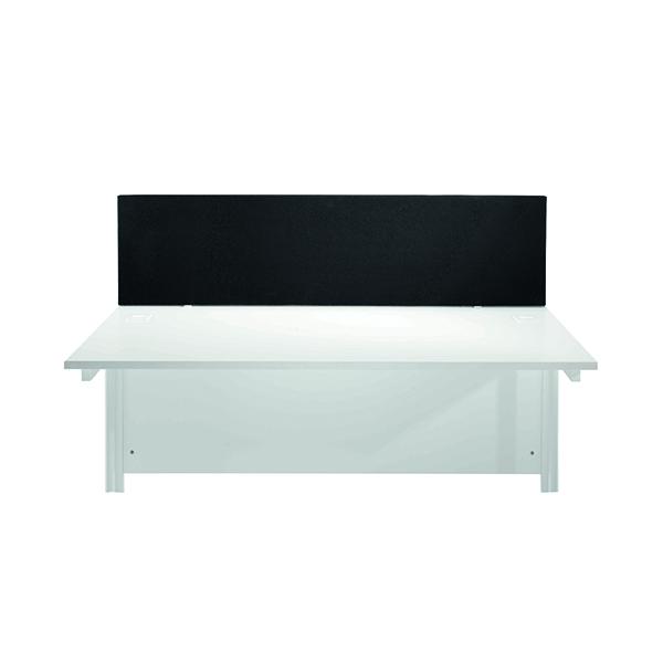 FF Jemini Black 1200mm Strt Desk Screen