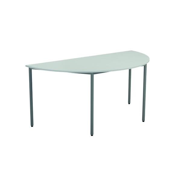 FF Jemini Semi Circular Table W1600 Wht