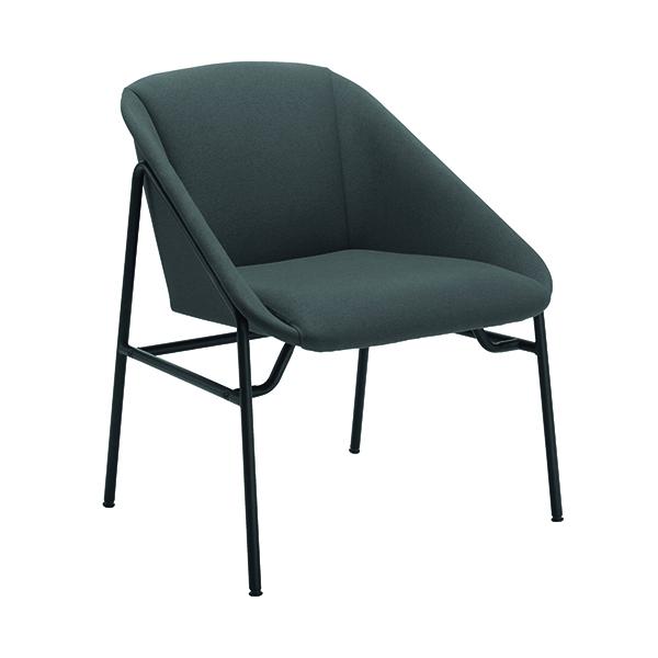 FF Jemini Grey Bistro Reception Armchair
