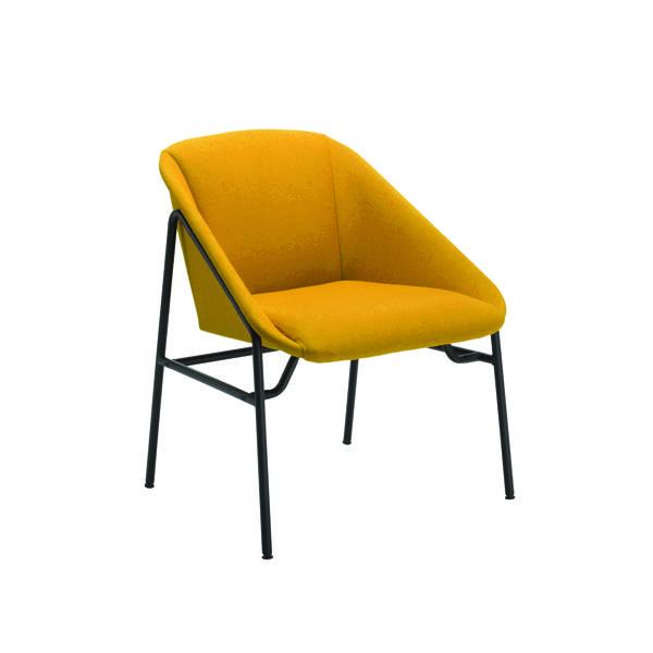 FF Jemini Mustrd Bstr Reception Armchair