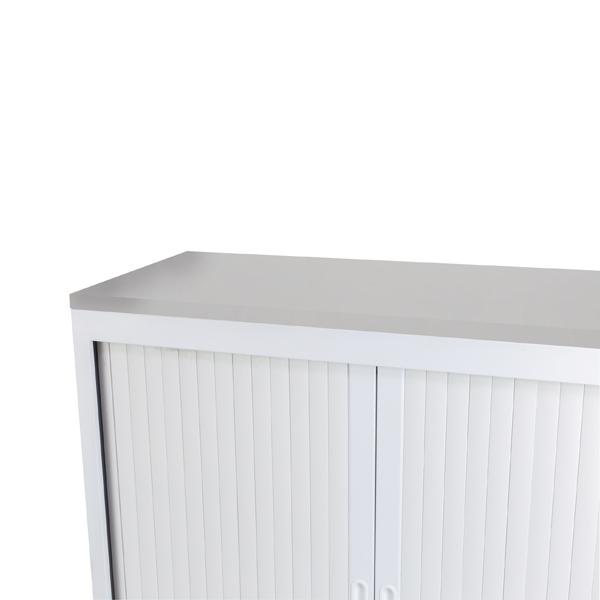Talos Cupboard Wooden Top White