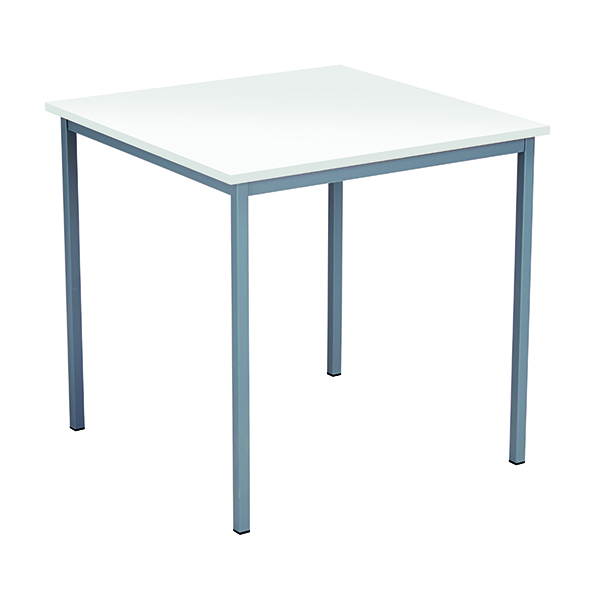 FF Square Table 750mm White