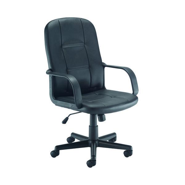 FF Jemini Jack2 PU Exec Chair Blk