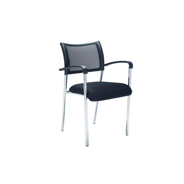 FF Jemini Mesh Back Armchair Chrome