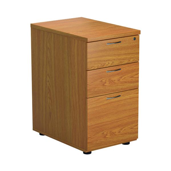 FR Desk High 3D Pedestal Nova Oak