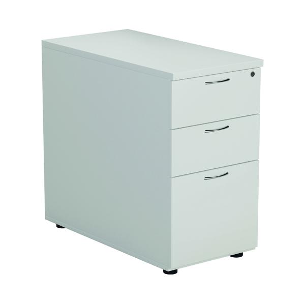 FR Desk High 3D Pedestal White