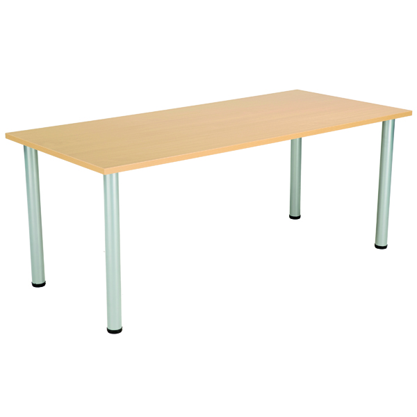 FF Serrion Rect Meeting Table Oak