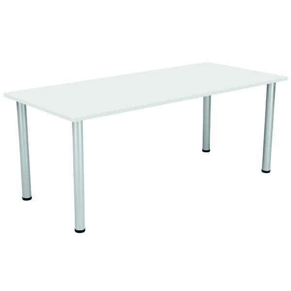 FF Serrion Rect Meeting Table White