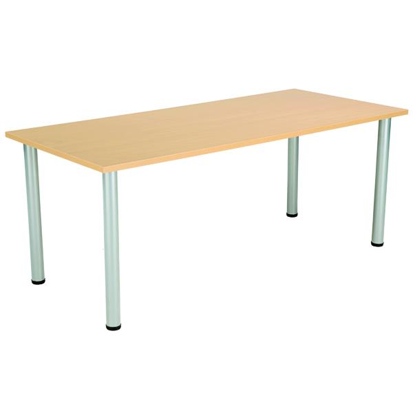 FF Serrion Rect Folding Table Oak