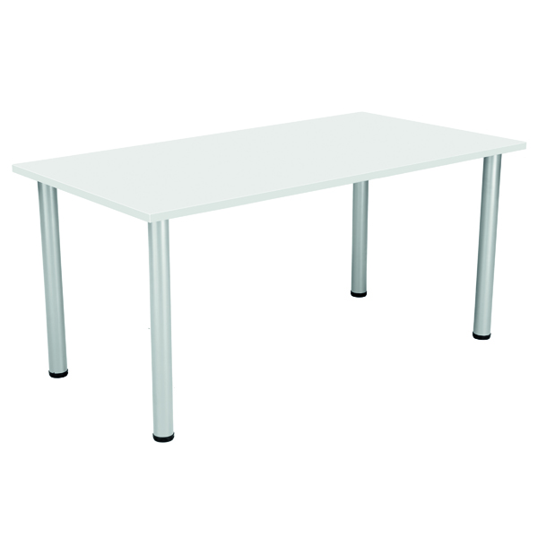 FF Serrion Rect Folding Table White