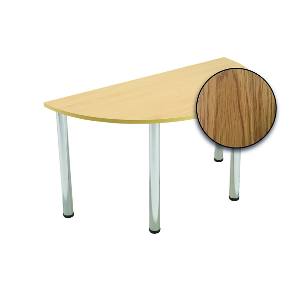 FF Serrion S/Circ Meeting Table Oak