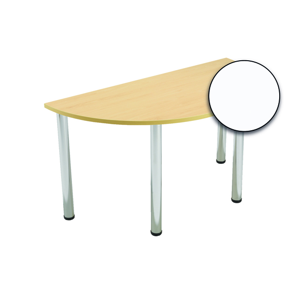 FF Serrion S/Circ Meeting Table Wht